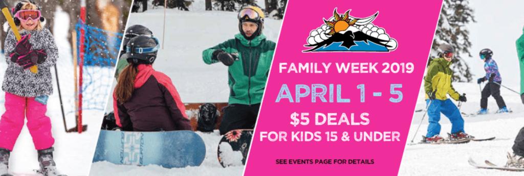 Mt Baker Ski Resort Discounts –  Spring Break Discounts for Kids –  $5 Lessons, Lift Tickets & Equipment Rentals!
