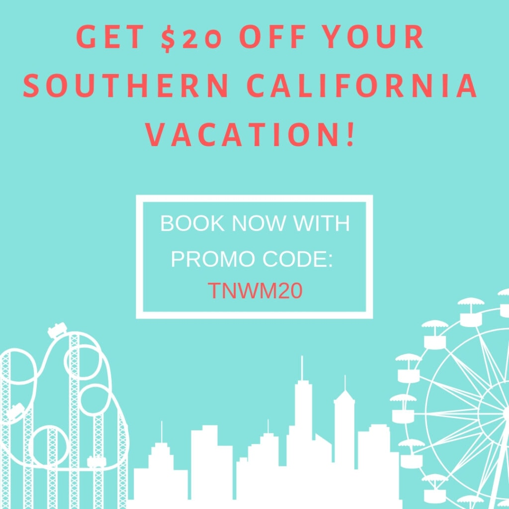 Promo Code For Disneyland or Southern California Vacations – Extra $20 Off!