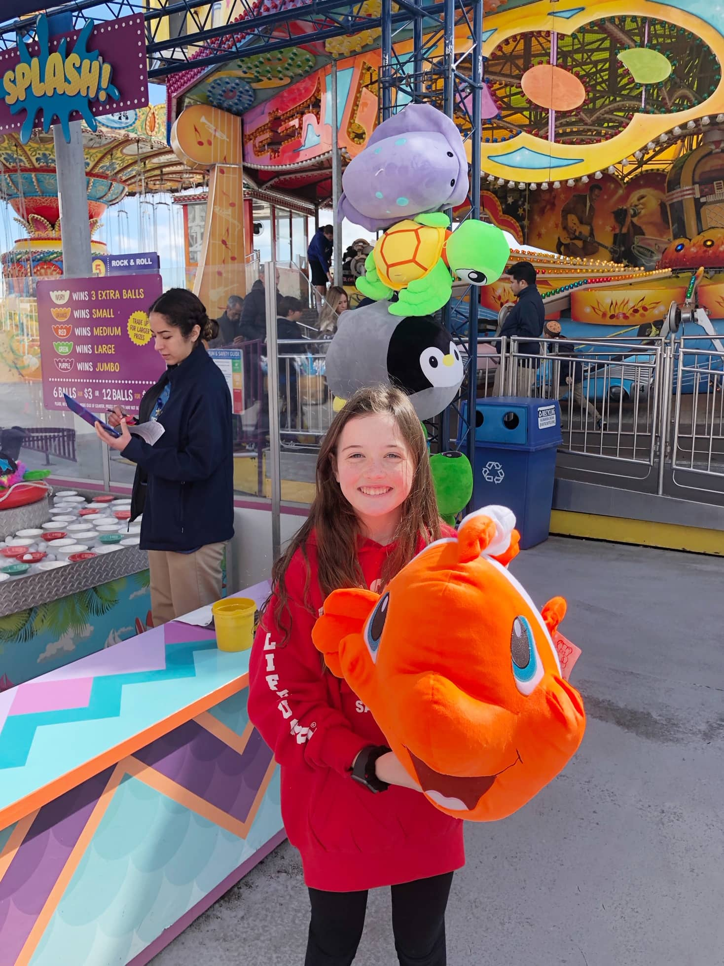 Carnival games at the Santa Cruz Boardwalk