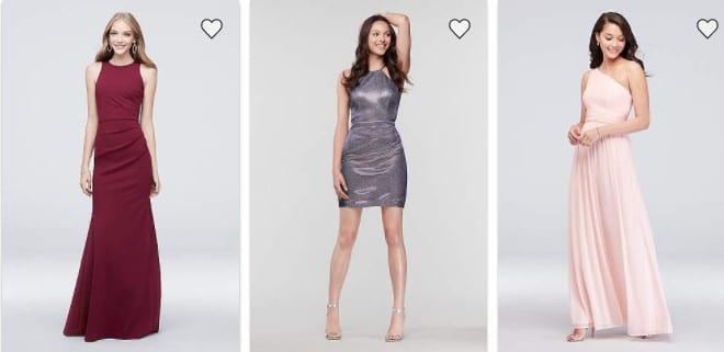 Prom dresses on sale at Davids Bridal