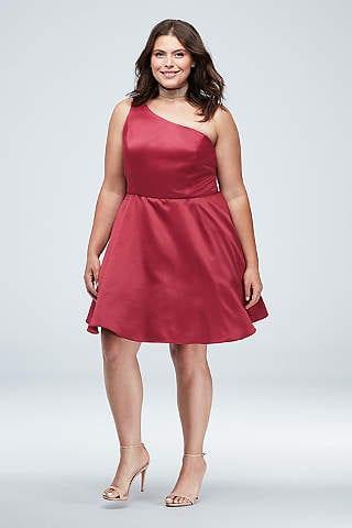 Plus sized prom dress short
