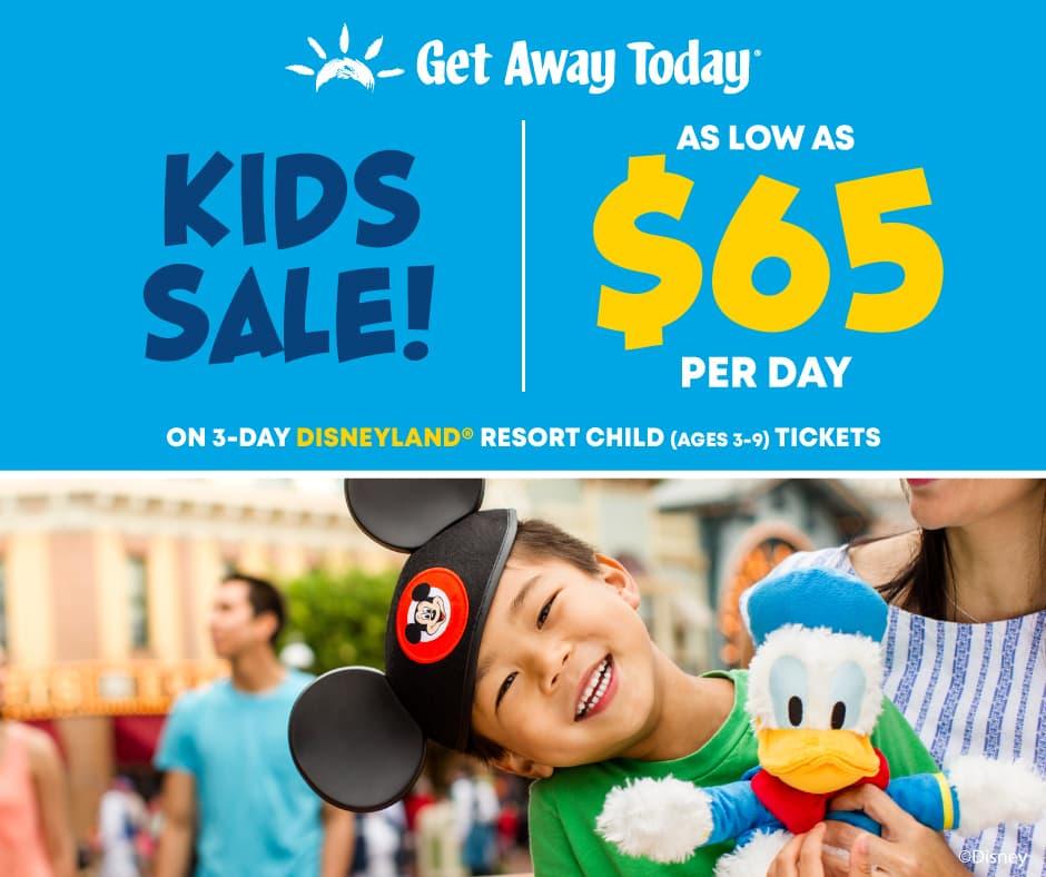 Disneyland Spring Savings – From $65 per day on Kids Disneyland Tickets!