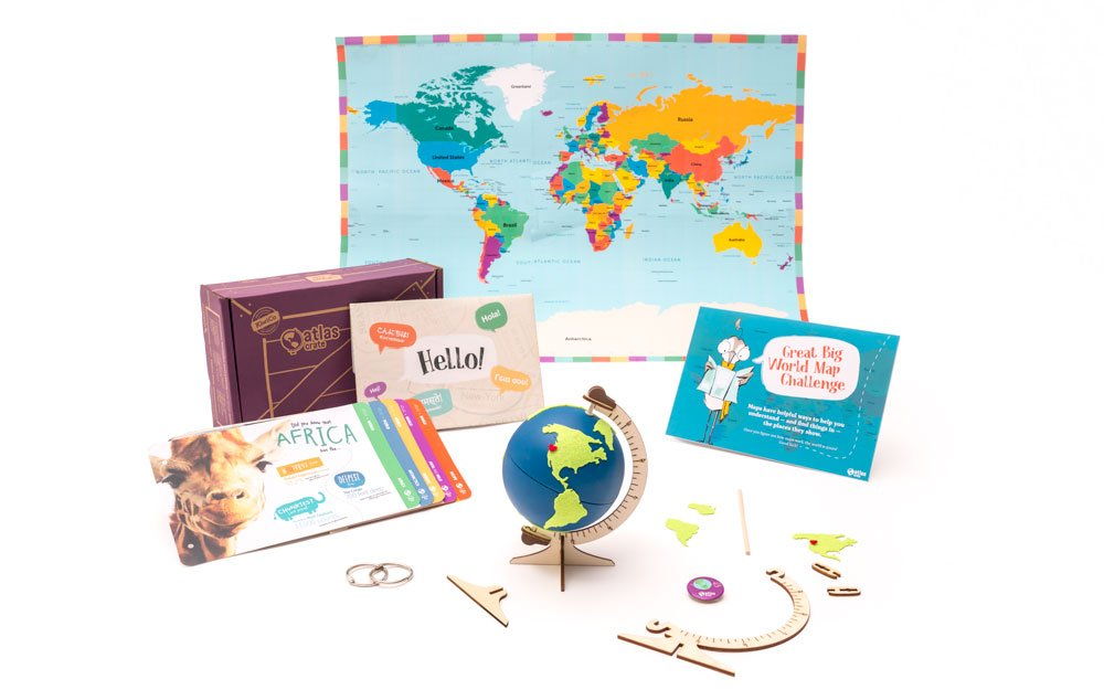 Atlas Crates – FREE Box (By Kiwi Crates, Spark Kids Sense Of Adventure!)