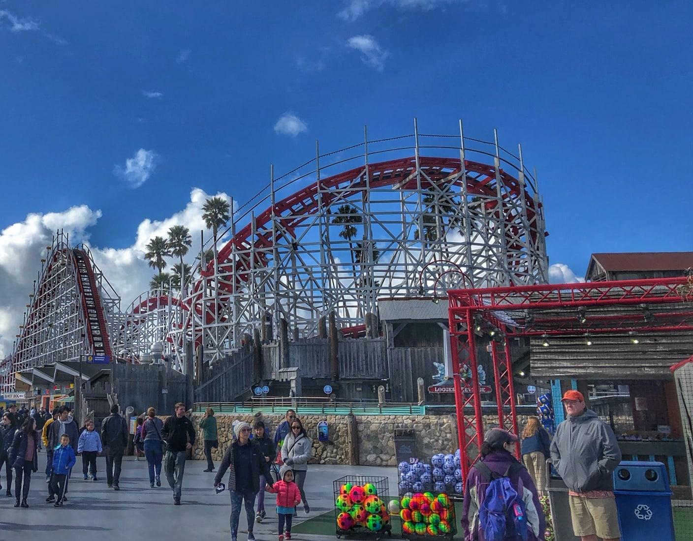 Santa Cruz Boardwalk Roller Coaster