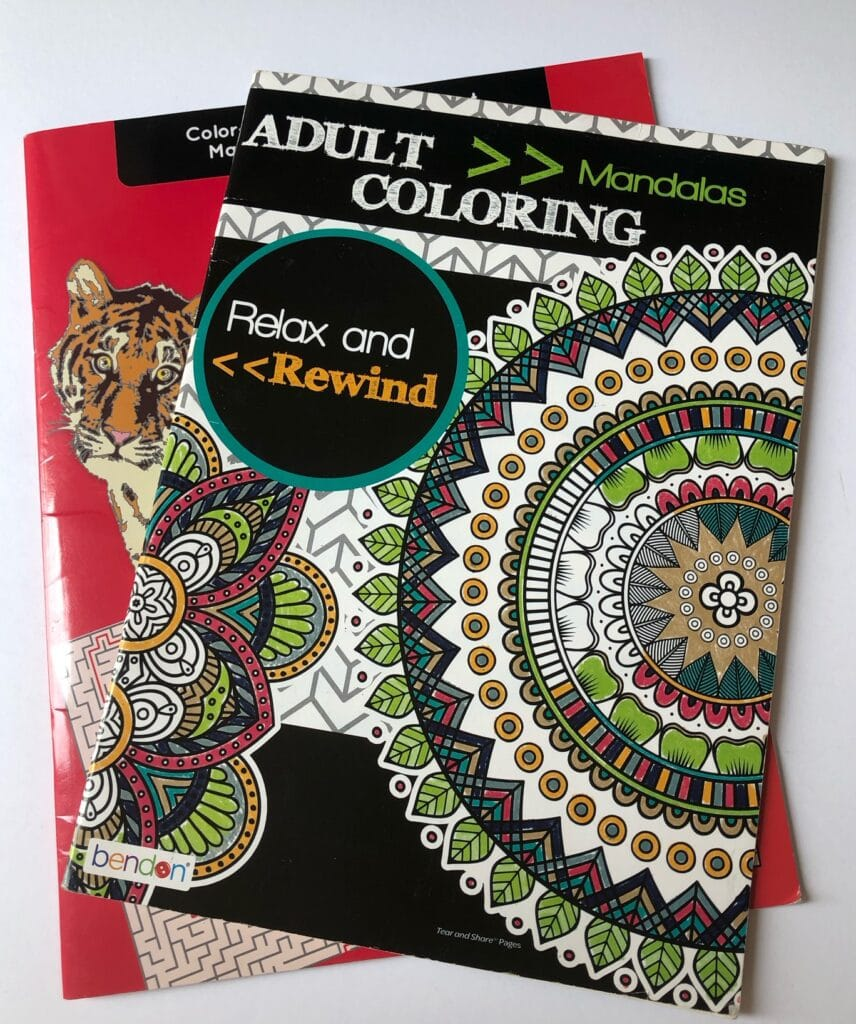 dollar store adult coloring books