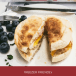 Freezer Friendly Breakfast Egg Muffin Sandwiches with Bay's English Muffins