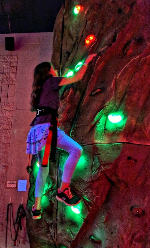 Glow in the Dark Rock Climbing at Triple Play Resort Idaho