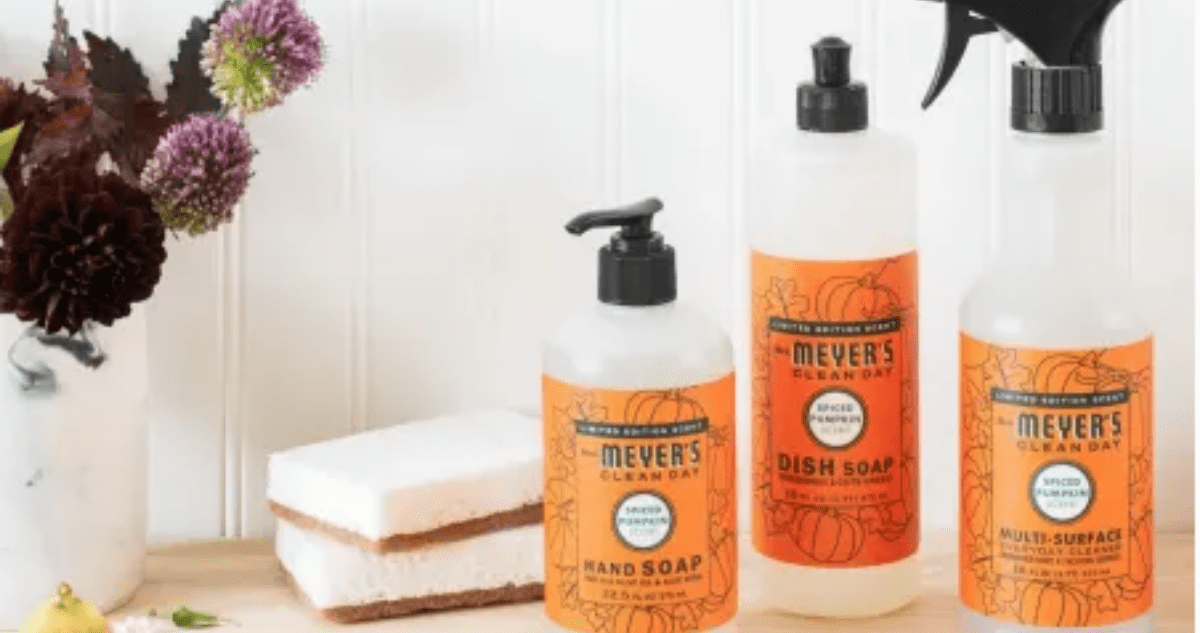 Natural Cleaning Supplies Discounts Mrs Meyer S Pumpkin Spice Scents Thrifty Nw Mom