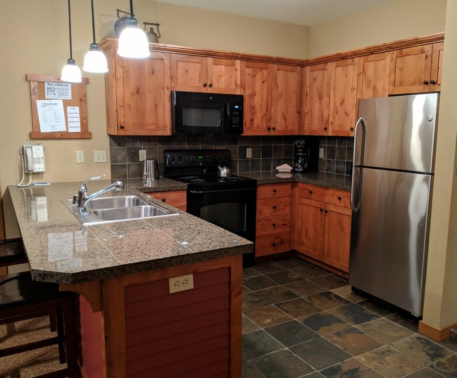 Silver Mountain Resort Condo Kitchen