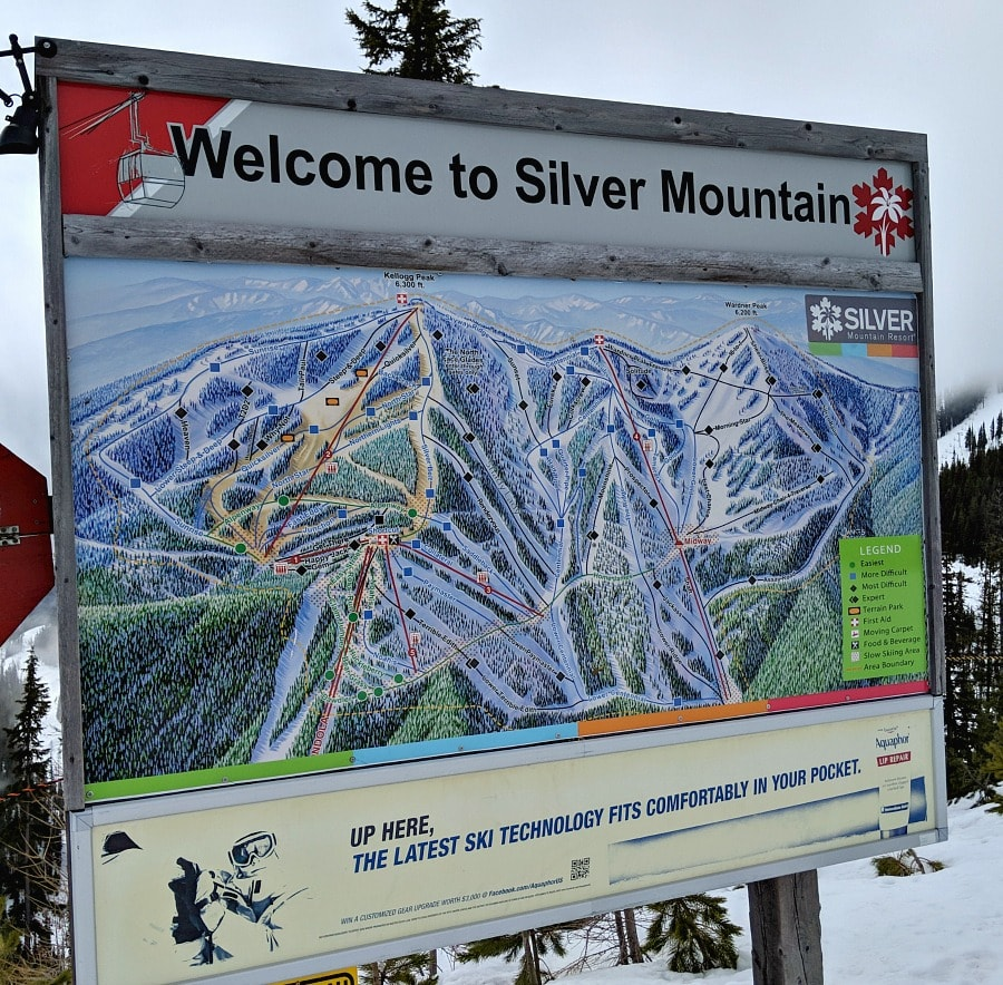 Silver Mountain Ski Routes