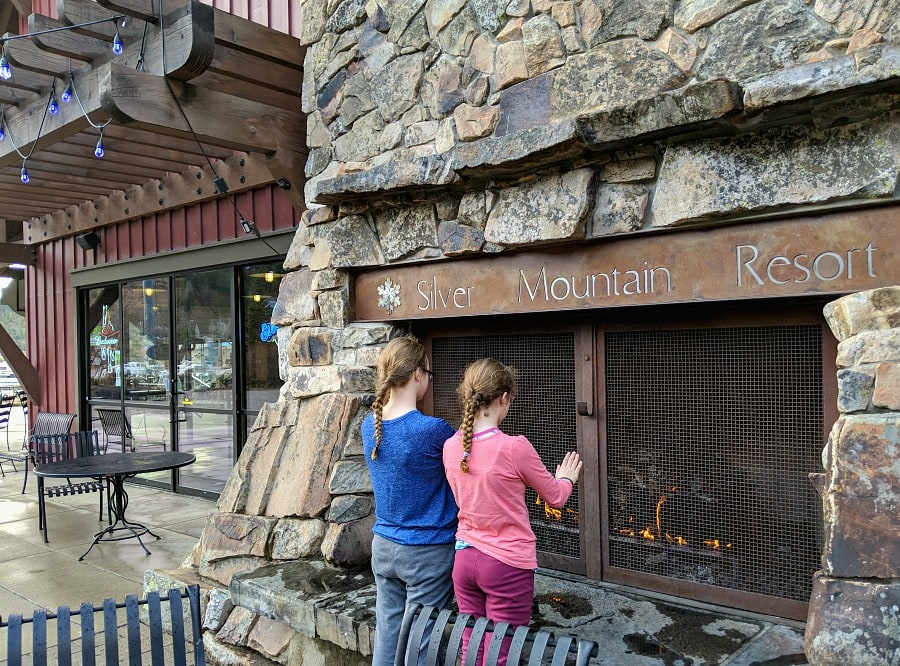 Silver Mountain Village Outdoor Fireplace
