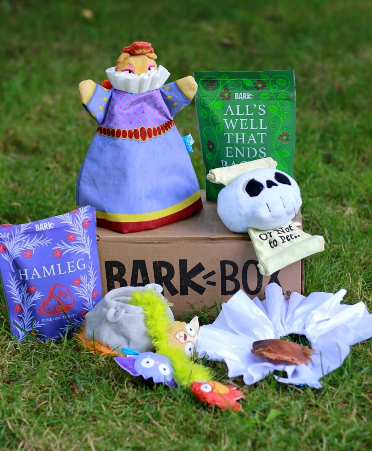 BarkBox Shakespeare Themed Box
