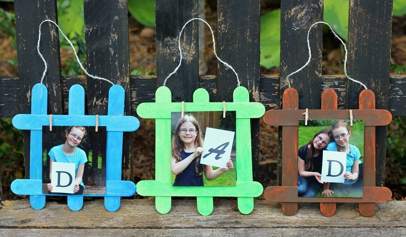 DIY Fathers Day Photo Gift