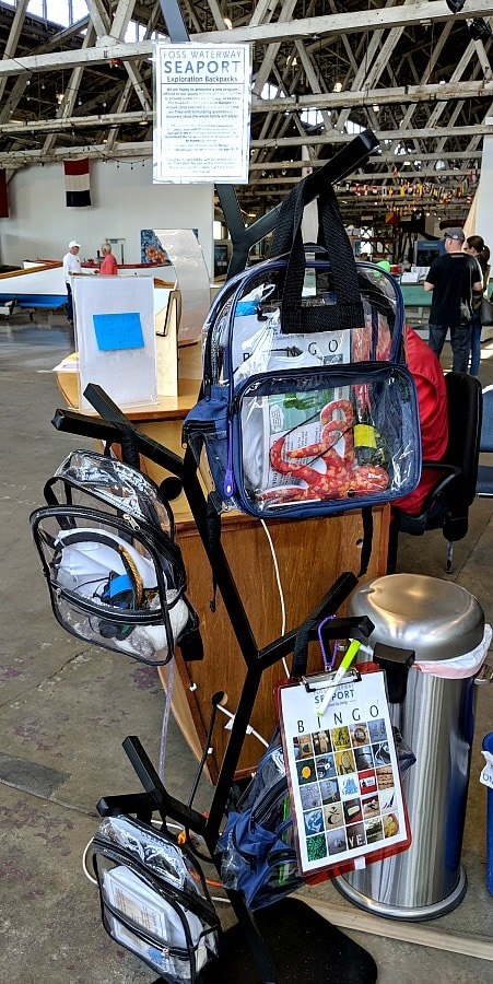 Educational Backpacks for Kids at Foss Waterway Seaport Museum