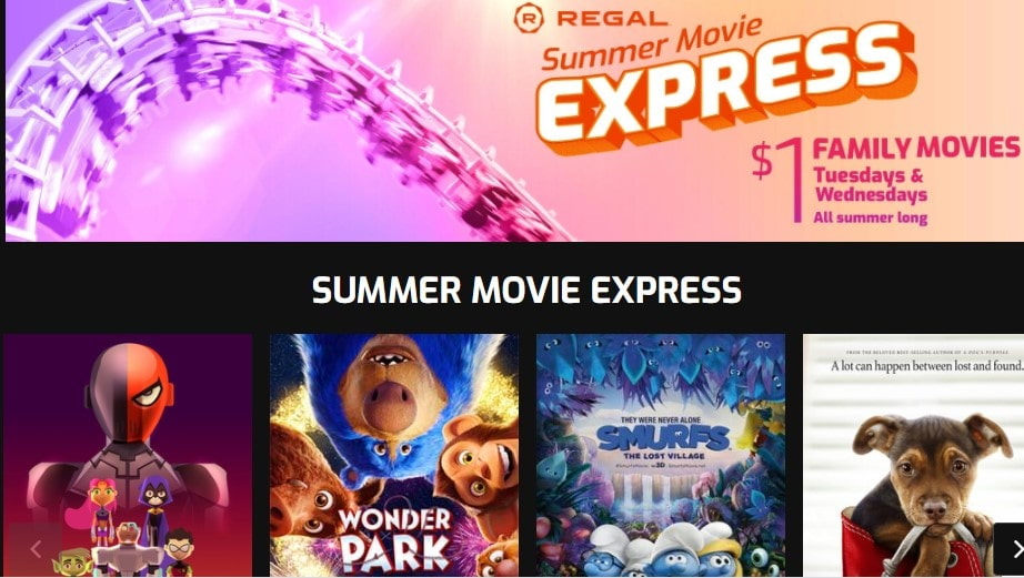 Regal Summer Movie Express 2021 – $1 Kids Movies