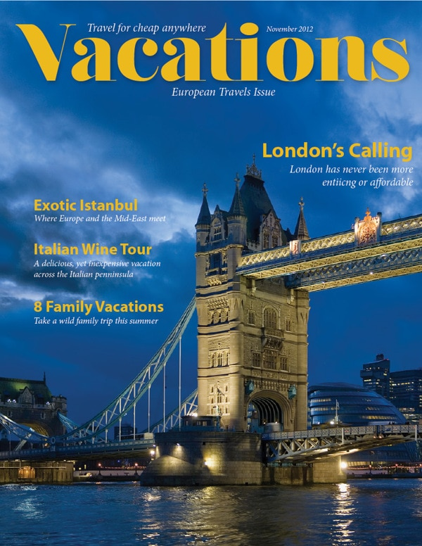 Vacations Magazine Subscription – On Sale for $6.99 / year!