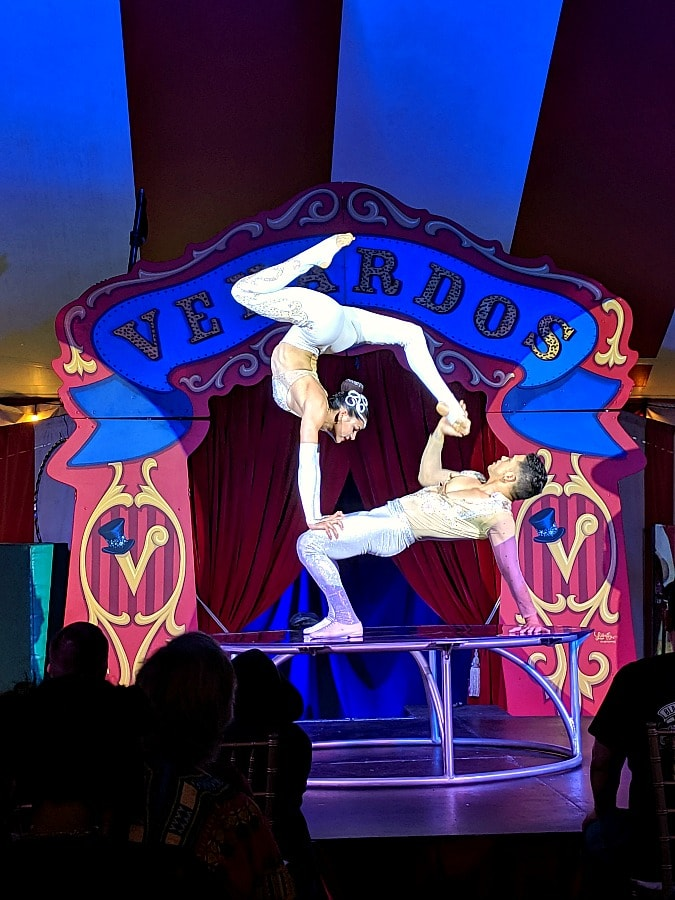 Acrobats with Venardos Circus