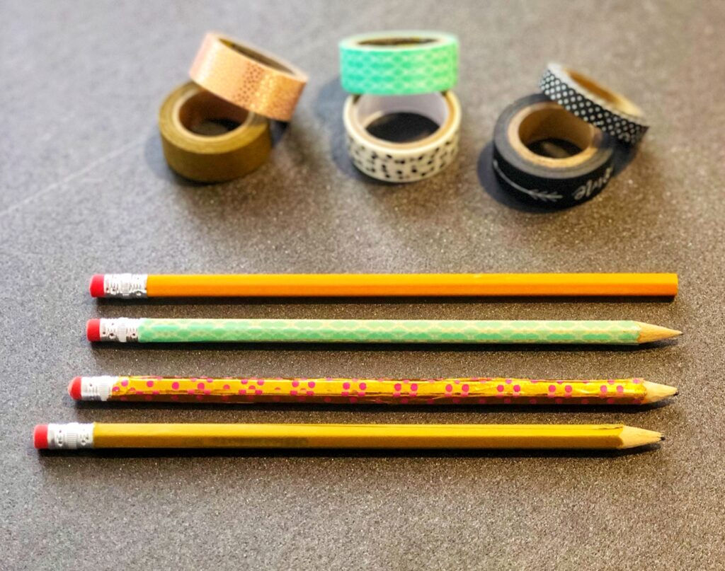 DIY Pencils with washi tape