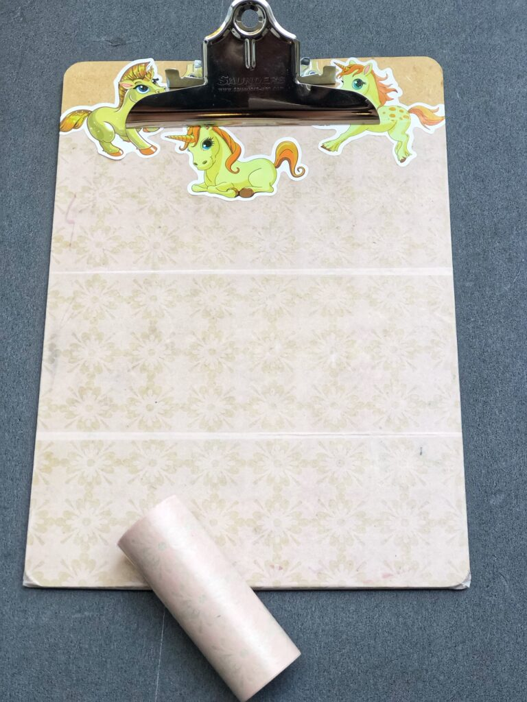 use washi tape to make school supplies
