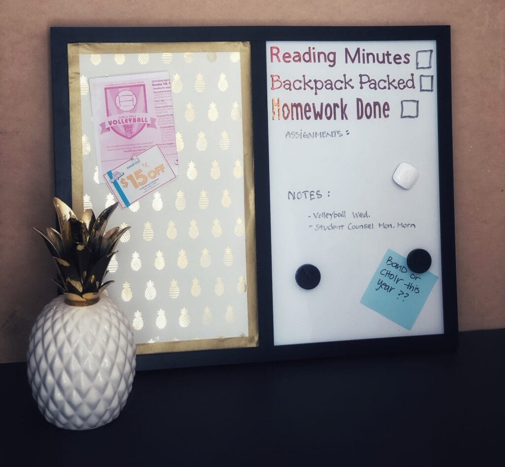 customize your white board or cork board