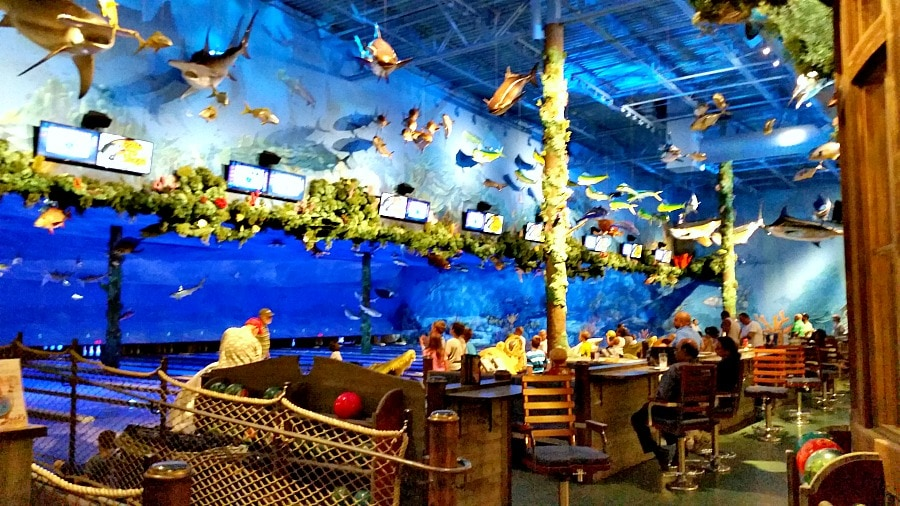 Bass Pro Shop Bowling with Aquarium