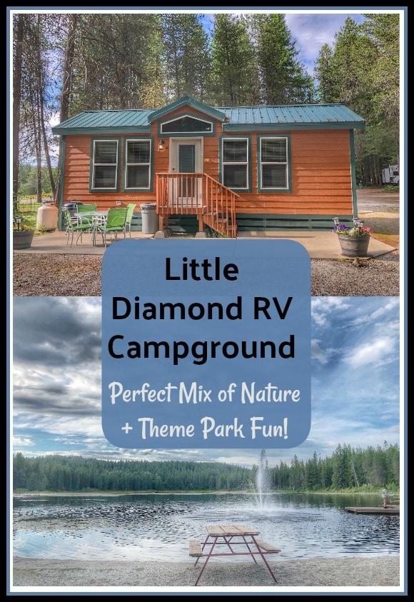 Cabins at Little Diamond Lake, Wa – Perfect Mix of Nature + Theme Park Fun!