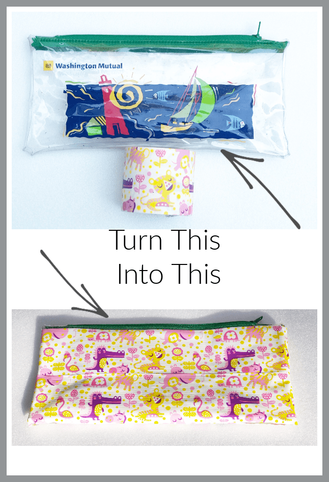DIY Pencil pouches with duct tape