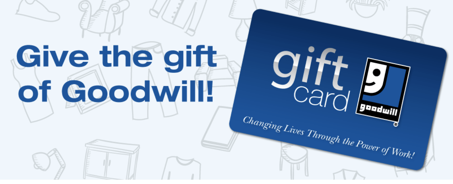 Goodwill gift card