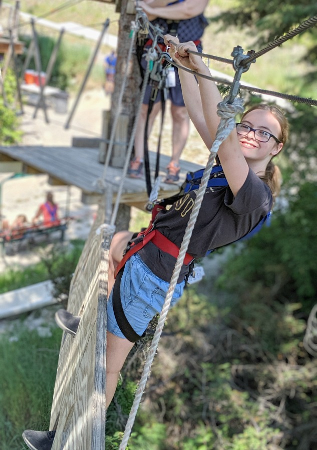 Aerial Adventure Course at Whitefish Mountain Resort