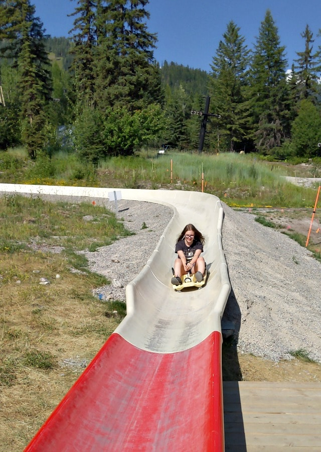 Alpine Slide at Whitefish Mountain