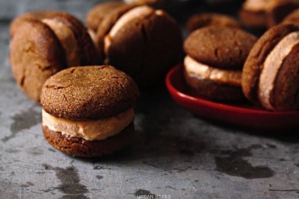 Ginger Snap Pumpkin Ice Cream Sandwiches