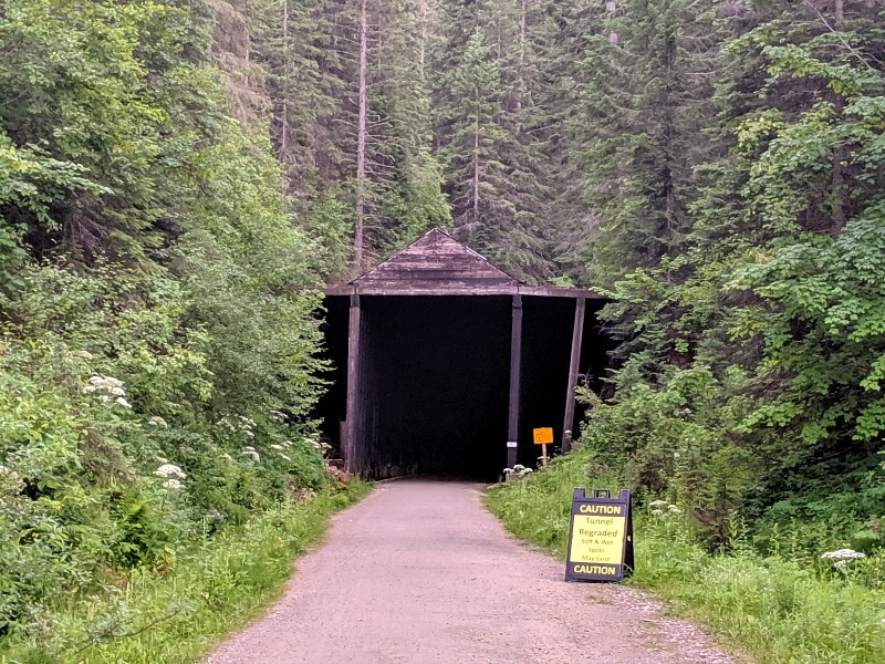 Route of Hiawatha Bike Tunnel