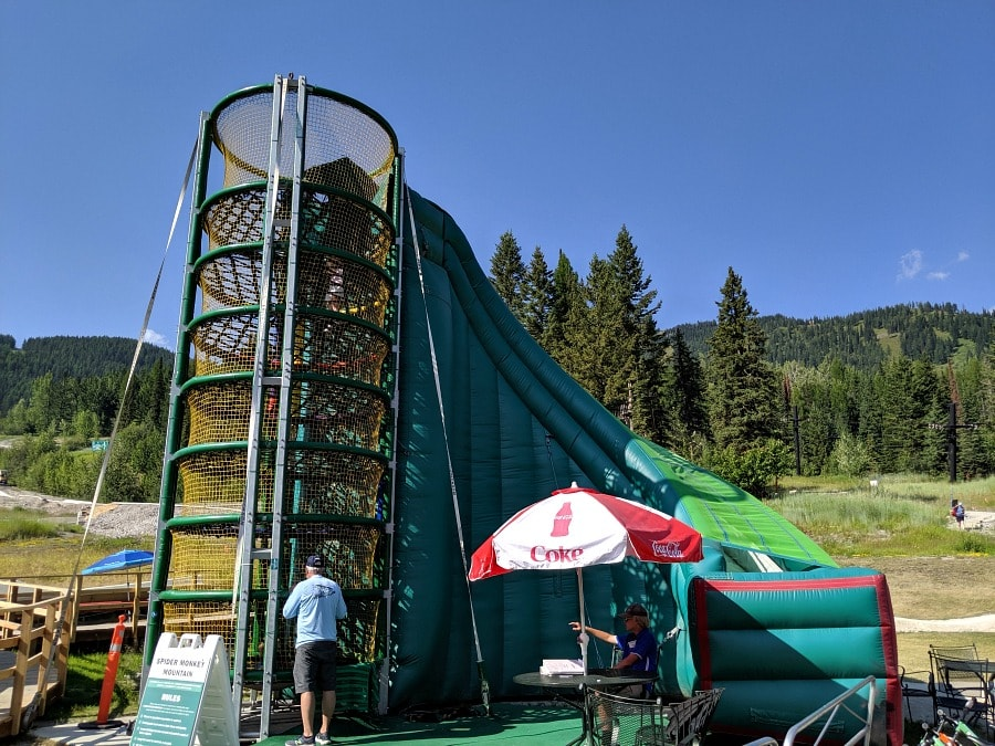 Spider Monkey Inflatables at Whitefish Mountain