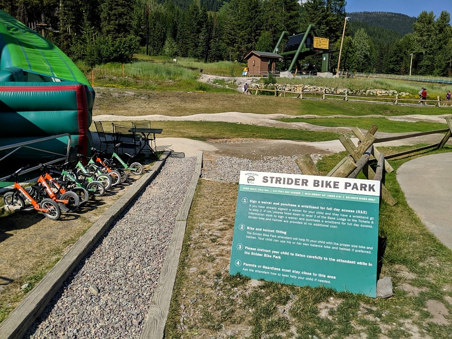 Strider Bike Park at Whitefish Mountain