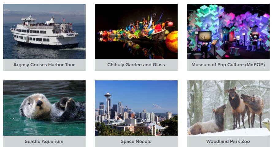 City Pass Seattle Attractions