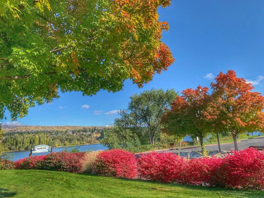 fall foliage riverfront park Wenatchee
