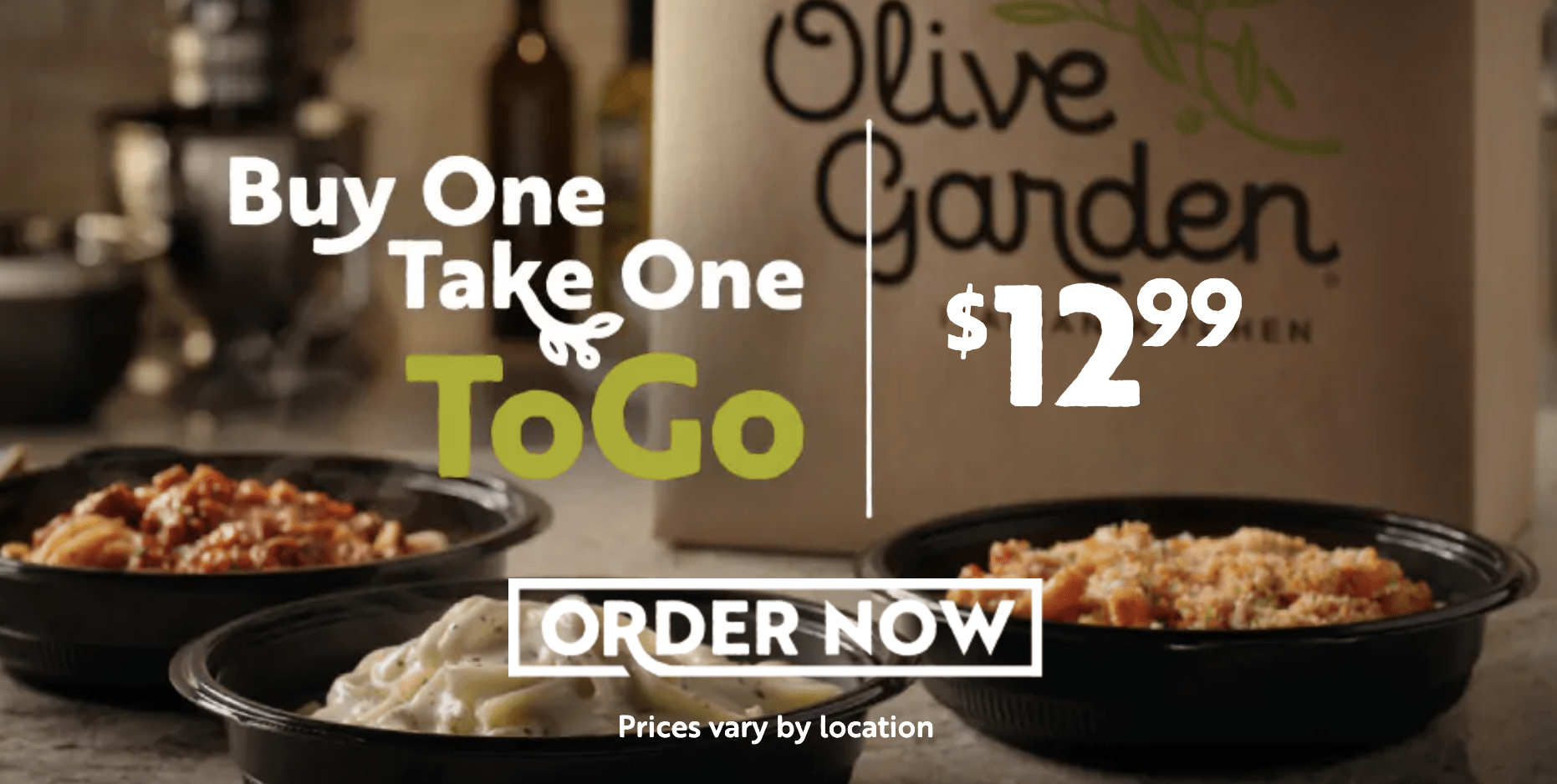 Olive Garden Buy One Take One Home Promo