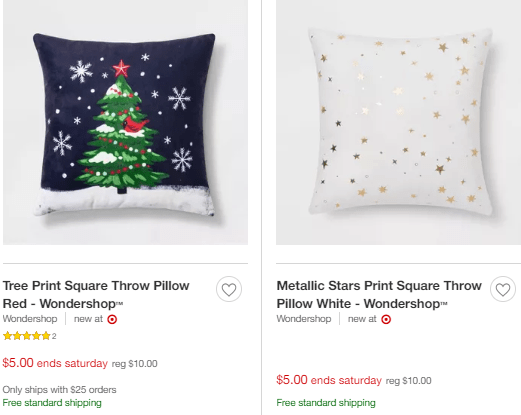 Christmas Pillows & Throw Blankets - $5 At Target! - Thrifty ...