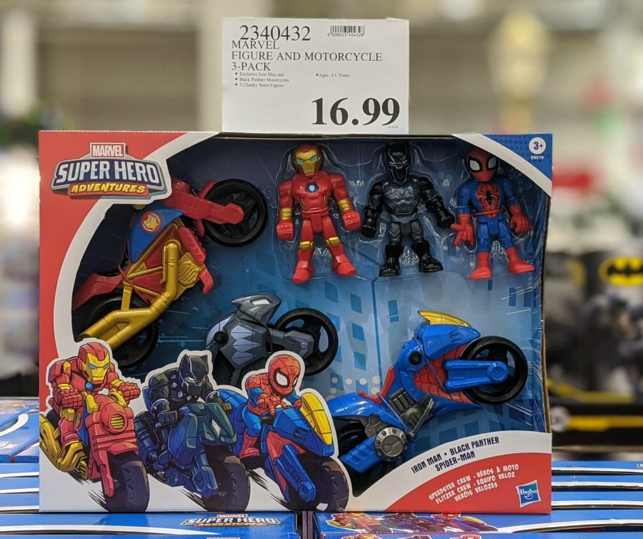 Marvel Figure & Motorcyle 3 Pack