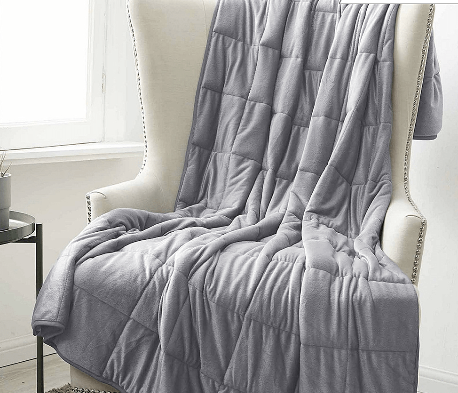 Silver Flannel Weighted Blanket
