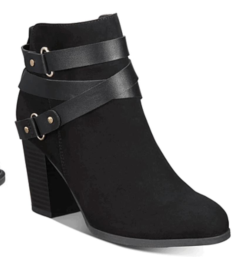 Black Booties on Sale at Macys