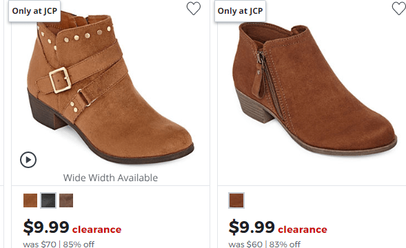JCPenney Boot Sale Women's Boots As Low