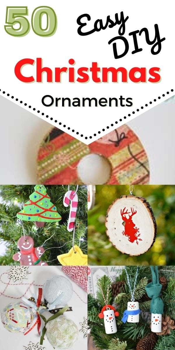 Homemade Christmas Ornaments 50 Simple Ornaments To Make With Kids Thrifty Nw Mom