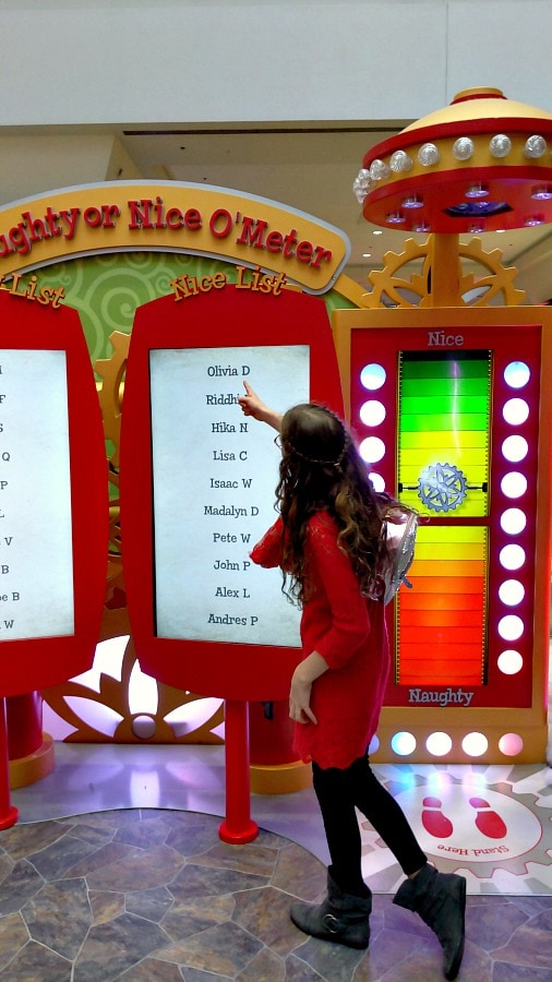 Finding names on the naughty or nice meter at Santa HQ