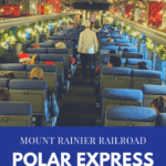 Mount Rainier Railroad Polar Express Train