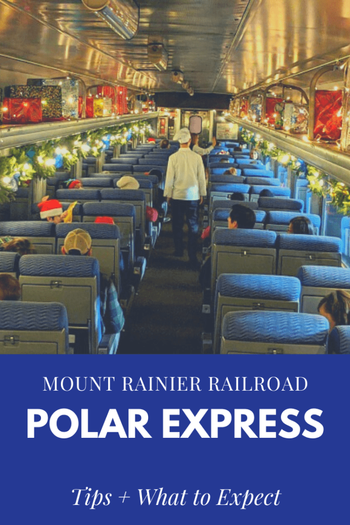 Mount Rainier Railroad Polar Express Train