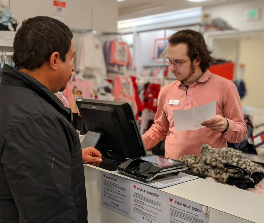 Paying for Macy's Purchases with Gift Card Surprise