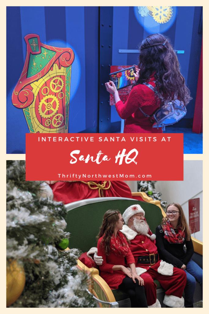 Santa HQ Experience at Washington Square Mall in Portland Oregon