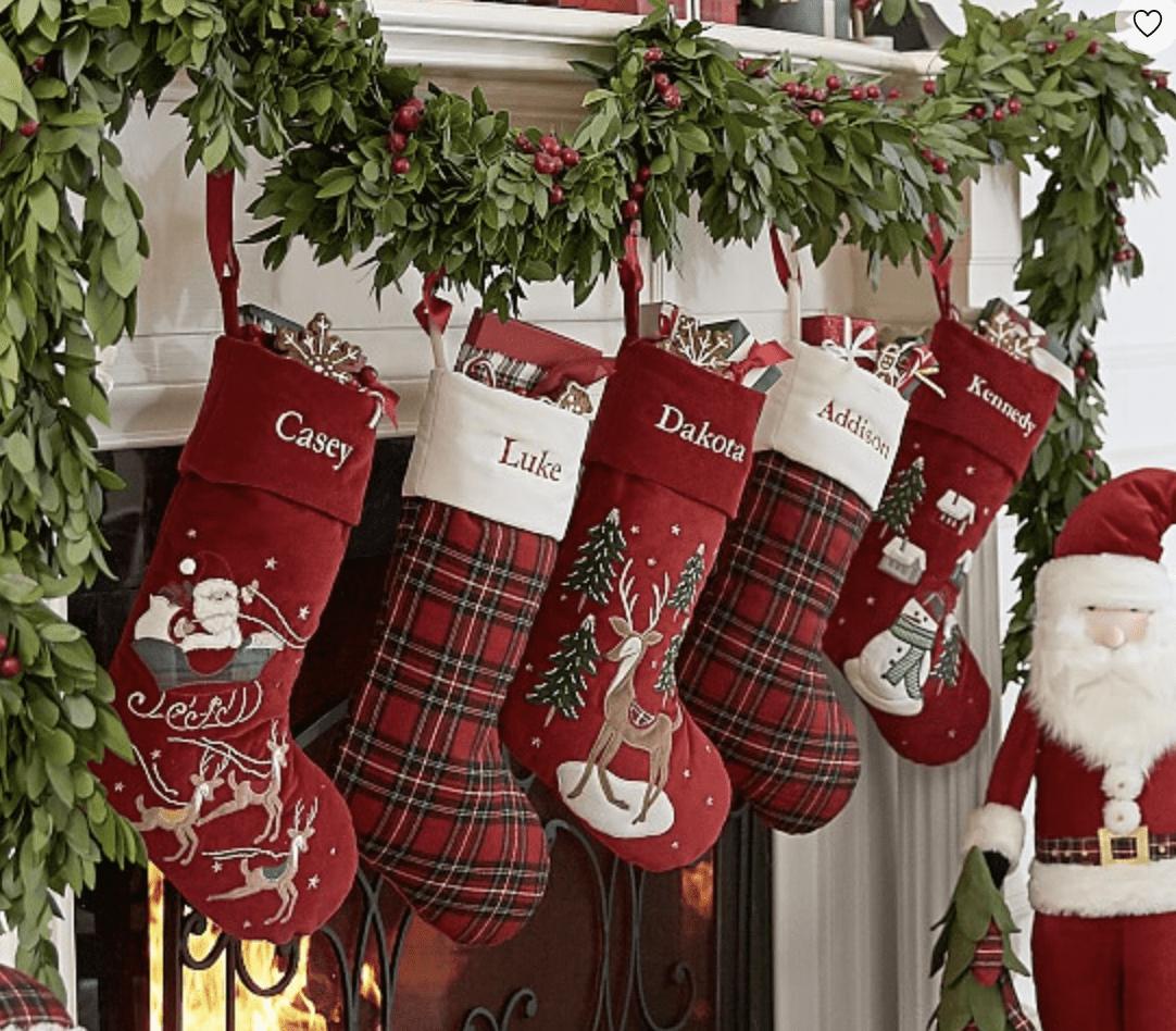Pottery Barn Luxe Velvet Stockings