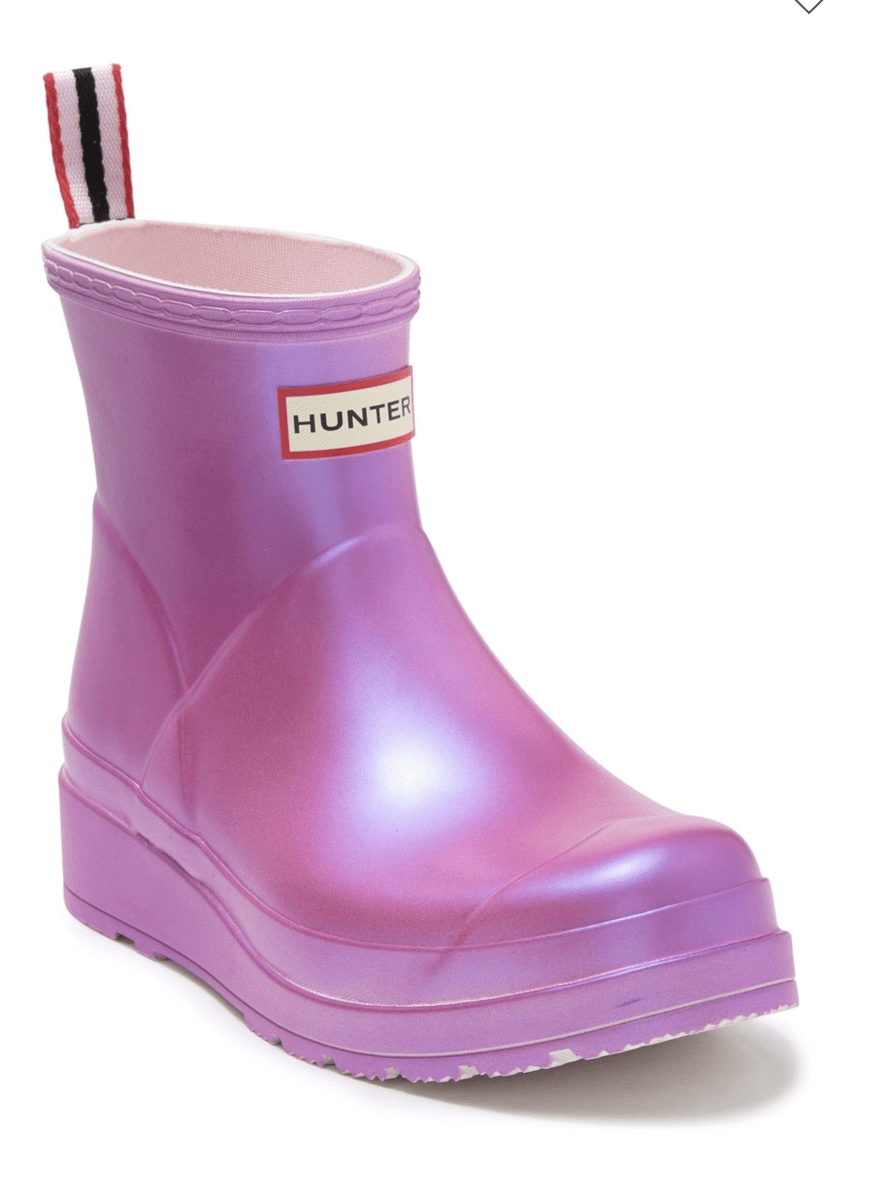 Hunter Boots Pink Short Style